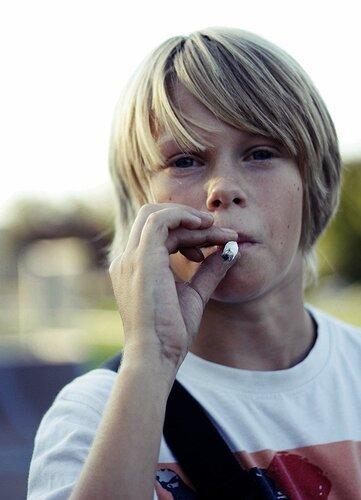 young smoker