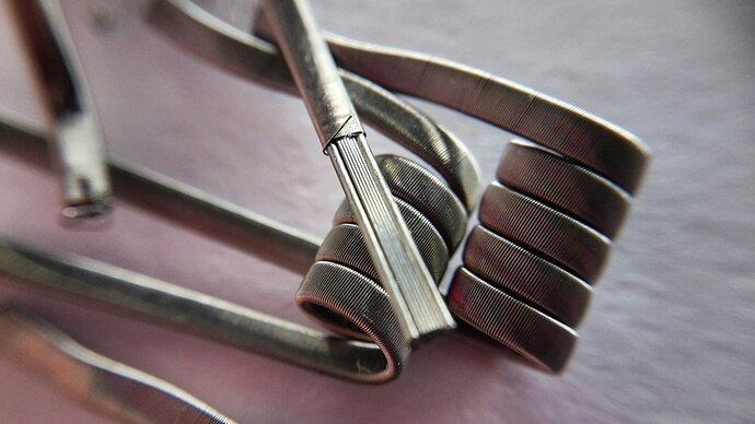 framed staple coil