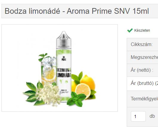 bodza limonádé - aroma prime snv